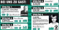 Bild vergrößern: Fussballkulturelle Lesebühne - Programm 2019-20
