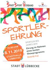 Bild vergrößern: Plakat Sportlerhrung 2019