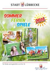 Bild vergrößern: Titel Programmheft Sommerferienspiele 2016Titel Programmheft Sommerferienspiele 2016