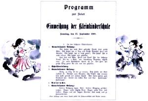 Einweihung Kleinkinderschule 1908