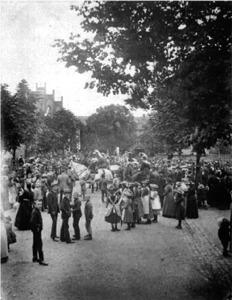 Der `Graf vom Reineberg` mit Gefolge, 1892