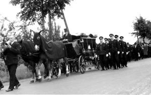 Trauerzug in Blasheim, 1949