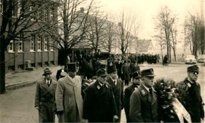 Trauerzug in Nettelstedt, 1957
