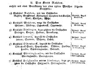 Amtsblatt Minden 1816