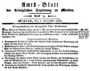 Amtsblatt Minden, 1831