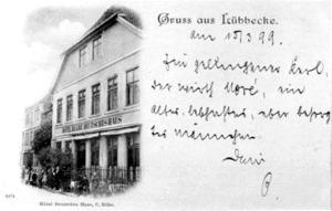 Hotel Deutsches Haus, um 1895