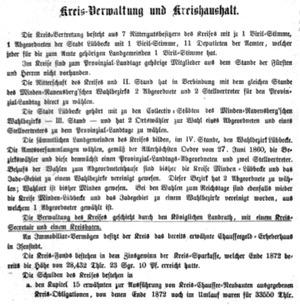 Kreis-Verwaltung und Kreishaushalt, 1874