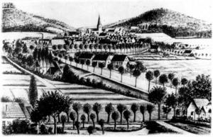 Stadtansicht, um 1890