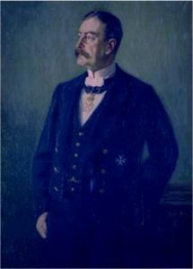 Landrat Wilhelm Freiherr von Ledebur (Original: Crollage)