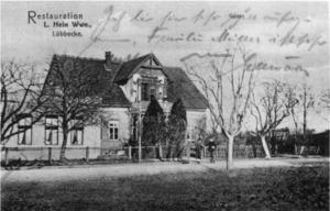 """Gastwirtschaft Hein """"Zum grünen Hof"""", um 1910"""