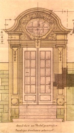 Entwurf Sandsteinportal