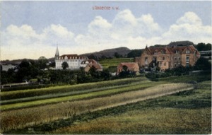 Postkarte Stadtansicht, um 1912