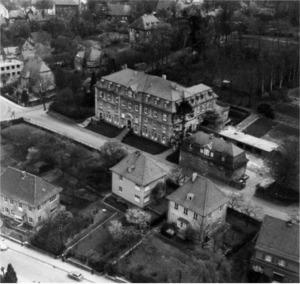 Luftbild Kreisverwaltung, 1957