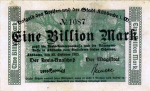 Notgeld Eine Billion Mark
