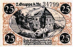 Notgeld 25 Pfennig Burgmannshof