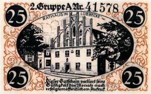 Notgeld 25 Pfennig Rathaus