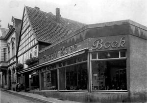 Manufakturwaren Rudolf Bock um 1935