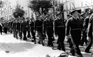 Schützenzug in der Niedernstraße 1952