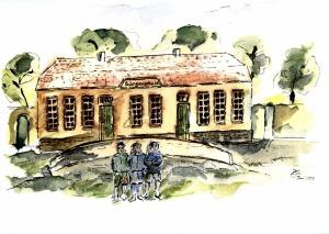 Die 1829 eingeweihte Bürgerschule