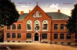 Die 1887 eingeweihte Bürgerschule (Postkarte 1915)